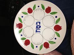 Hand painted Seder plate