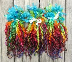 Teeswater Locks Extra Long Dyed Tailspinning by RainbowTwistShop
