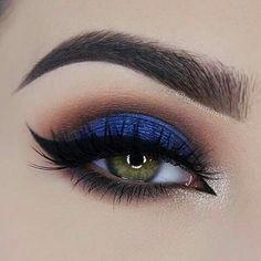 Belo olho com azul + cinnabar esumado, completando com um delineado perfeito. Conheça a caneta delineadora Mary Kay comigo. http://www.marykay.com.br/eyes_liquidpeneyeliner.html S✧s
