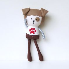 """My Teeny-Tiny Dolls® are 11"""" Handmade Fashion Dolls. Made from cotton and wool felt fabrics, filled with polyfil for softness.Due to the handmade nature of the doll, recommended for children 3 . Children should be supervised during play.© Cook You Some Noodles 2015"""