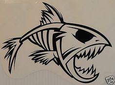 Tribal Fish Sticker/Decal windsurfing/kitesurfing/surfing use Fly Fishing, Fishing Knots, Saltwater Fishing, Fishing Tips, Fishing Lures, Tribal Arm Tattoos, Shark Tattoos, Animation Tutorial, Shadow Art