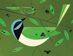 Green Jay, Charley Harper