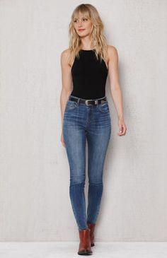 Maria Blue High Rise Skinny Jeans