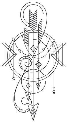 Talisman - Draping Arrows design (UTH9884) from UrbanThreads.com