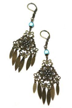 BERNADETTE- Boucles d'oreille | Earrings - BAZAROÏDE CREATION