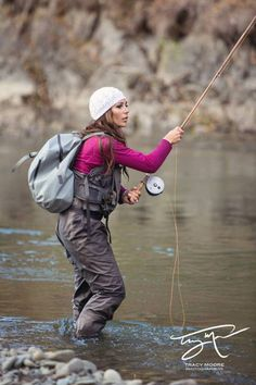 What is it with all these beautiful steelhead fishers… Fly Fishing Girls, Usa Fishing, Bass Fishing Shirts, Fishing World, Gone Fishing, Trout Fishing, Fly Girls, Salmon Fishing, Fishing Life