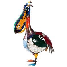 Earth+de+Fleur+Homewares+-+EEIEEIO+Metal+Garden+Art+Sculpture+-+Pete+the+Pelican
