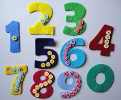Цифры магниты из фетра (два варианта)
