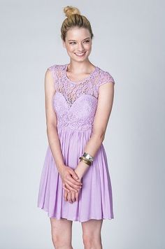 lace babydoll dress - lavendar   Style Stalking   Pinterest