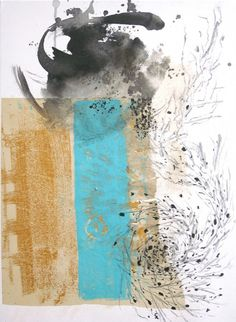 Voragem - Pintura,  50x70 cm ©2009 por Maria Antónia Santos -                                                        Pintura contemporânea, Tela, Arte abstrata