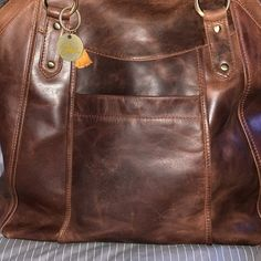 Large Brown Leather Handbag Tote, Leather Shoulder Bag, Leather Bag, Leather Purse, by The Leather Store Brown Leather Backpack, Brown Leather Handbags, Tan Leather, Leather Shoulder Bag, Leather Crossbody, Crossbody Bag, Chelsea, Handbag Organization, Handbag Organizer