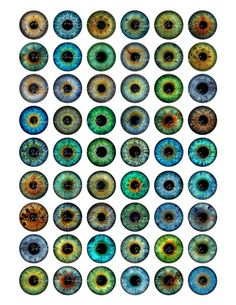 Eyes eyeball 1 inch circles for Pendants by StudioArtistX on Etsy