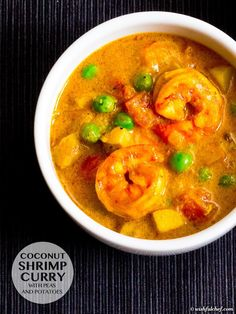 Coconut Shrimp Curry with Peas and Potatoes // wishfulchef.com
