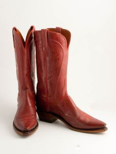 Lucchese Red Burnished Cosmo Goat