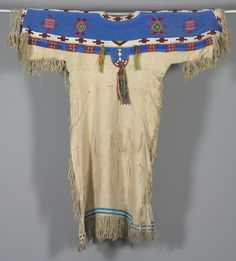 Woman's Beaded Dress, c 1890. America, Native North American, Central Plains, Lakota Sioux, Post-Contact.
