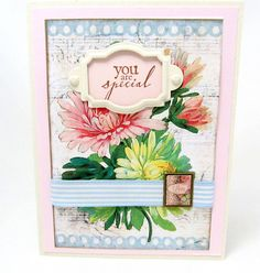 You are Special  Spring Flowers  Pastel by PrettyByrdDesigns