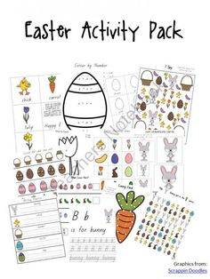 Easter Activity Pack - Tots to Prep product from A Moment In Our World on TeachersNotebook.com