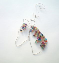 Horse Ornament Rainbow Pony Suncatcher Horse by BirdysNest on Etsy, $22.00