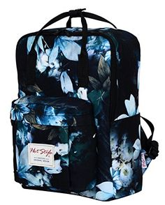 Amazon.com   HotStyle Girls Floral Print Handbag Backpack - Waterproof Fits  13 inches Laptop - Green   Backpacks 69c1829bc4