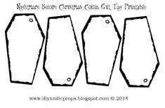 Nightmare Before Christmas Gift Tags Printable