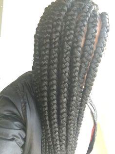 85 Box Braids Hairstyles for Black Women - Hairstyles Trends Box Braids Hairstyles For Black Women, Haircut Styles For Women, Short Haircut Styles, Best Short Haircuts, Twist Cornrows, Twist Braids, Twists, Big Box Braids, Jumbo Box Braids