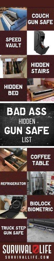 Hidden Gun Safe List of 9 Badass Secret Gun Storage Lockers Secret Gun Storage, Hidden Gun Storage, Weapon Storage, Ammo Storage, Storage Room, Survival Life, Survival Prepping, Survival Skills, Urban Survival