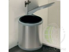 Aluminium Plastic Swing Out Waste Bin - https://www.locksonline.com/buy/Swing-out-waste-bin-aluminium-plastic-10-litres-3239.html