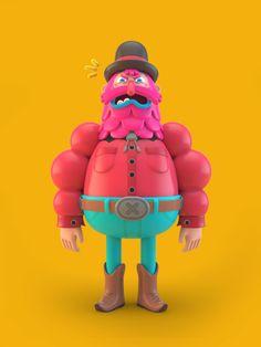 3D Illustrations by El Grand Chamaco, via Behance