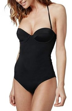 Topshop Underwire Lace-Up Back One-Piece Swimsuit, $68 | 100 Super Cute Swimsuits You'll Actually Want To Wear