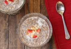 """Instant Cinnamon """"Oatmeal"""" (Low Carb and Grain Free) - net carbs (per prepared serving--yields 4 servings). - Living Low Carb One Day At A Time Low Carb Recipes, Whole Food Recipes, Cooking Recipes, Healthy Recipes, Healthy Breakfasts, Healthy Dishes, Free Recipes, Low Carb Breakfast, Breakfast Recipes"""