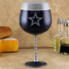 DALLAS COWBOYS WINE GLASS