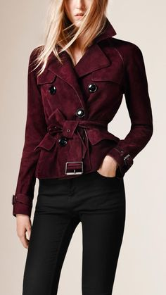 Suede Trench Jacket | Burberry
