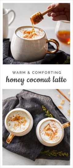 Naturally sweet with a tropical touch. Try out this Honey Coconut Latte Recipe. #latte #honey #coconut #recipe