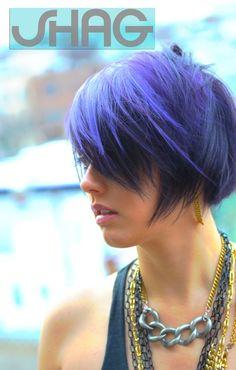 So pretty.makes me miss my purple hair. Funky Hairstyles, Hairstyles Haircuts, Funky Hair Colors, Hair Colours, Epic Hair, Haircut And Color, Purple Hair, Dark Purple, Dark Red