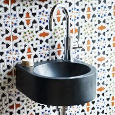 spanish tiles - for the cloakroom? Handmade tiles can be colour coordinated and customized re. shape, texture, pattern, etc. by ceramic design studios