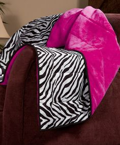 Take a look at this Fuchsia Zebra Cozy Plush Throw by Berkshire Blanket on #zulily today!