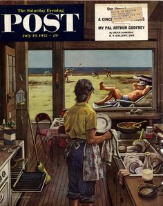 Post cover by Stevan Dohanos July 1952