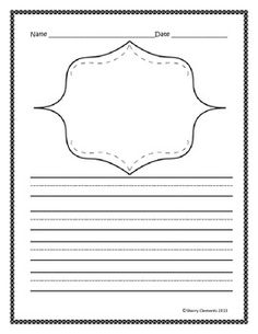 FREEBIE: Writing Paper (lined with drawing frame) Click on the green ...