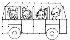 Afbeeldingsresultaat voor kinderen in speeltuin tekening Bus Safety, School Painting, Transportation Theme, Road Transport, Sport Craft, Baby Svg, Baby Games, Toddler Crafts, Preschool Activities