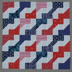 Easy Peasy Faux Zig Zag Quilt Pattern by Cluck Cluck Sew, pattern on Craftsy.com. Great color combination possibilities