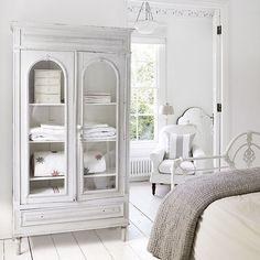 Bedroom linen cupboard in Georgian country house
