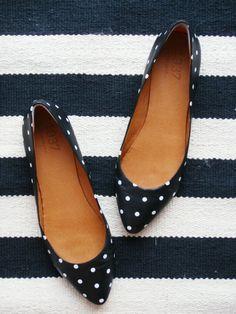Navy and polka dots