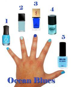 Blue hues nails - for the perfect Summer fashion nail art #mani