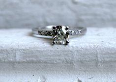 Vintage <3  The Classic Vintage Platinum Diamond Engagement Ring  by GoldAdore, $2850.00
