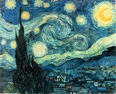 La Noche Estrellada - Vincent Van Gogh ha pintado un sinnúmero de conocidas piezas; sin embargo su pintura La Noche Estrellada es sobradamente considerada su opus magnum. Pintada en 1889, la pieza fue hecha desde la memoria y representa caprichosamente la vista desde su habitación del sanatorio donde residía en ese momento.