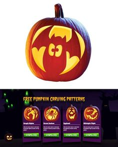 Ideas y plantillas gratis para decorar las calabazas de Halloween (via Bloglovin.com )