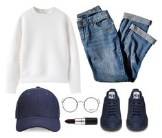 """Hangout with friends"" by maevaxstyle ❤ liked on Polyvore featuring Whistles, J.Jill, Moscot and MAC Cosmetics"