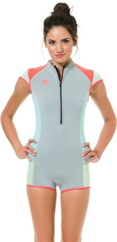 ROXY 1MM CAP SLEEVE BOOTY CUT SHORT JOHN > Gear > Wetsuits > Womens Wetsuits | Swell.com