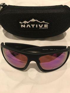 d6e3d620a95 Native Eyewear Distiller 186 302 531 Matte Black Frame Violet Lens  Polarized  fashion  clothing