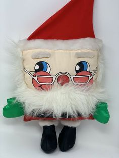"GNOMES ELVES 6/"" plush beanbag Christmas Ornaments Set of 2 w//RED GRAY Hats  NIP"
